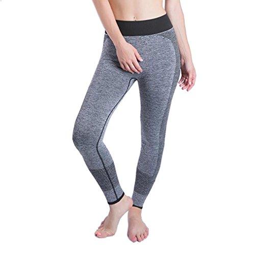 UFACE Damen Side Pocket Mesh Nähte Yoga Leggings Mesh Seitentasche Hosen Fitness Yoga Legging