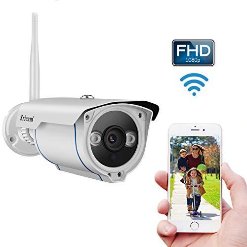 Caméra Surveillance WiFi Extérieure HD 1080P 2,0 Mégapixels, Caméra de Sécurité avec...