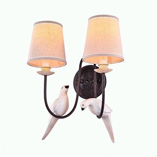 52 Single (Anbirazm Modern Wandleuchten E27 Antik Vintage Rustikal Wandlampe für Schlafzimmer Wohnzimmer Bar Flur Badezimmer Küche Balkon Retro Nachttischlampe Single-Headed Vogel, 52 * 15 CM Wandleuchte)
