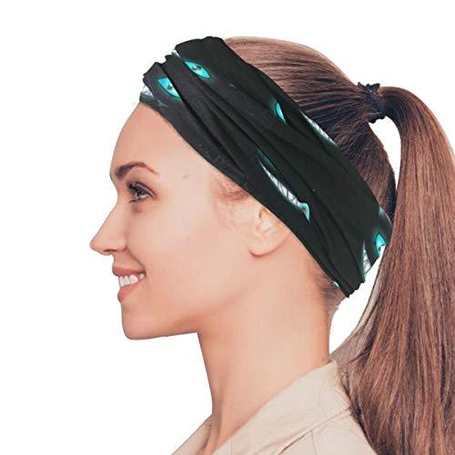 atze Lächeln Gesicht elastische Stirnbänder Kopf Wickeln Schal Sport Schweißband Gesichtsmaske Magic Scarf Haarschmuck Bands Krawatten für Frauen Mädchen Laufen Fitness Yoga ()