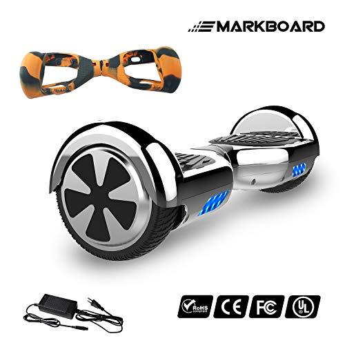 MARKBOARD Scooter Elettrico con Ruote 6.5 Pollici, Balance Board SUV off-Road, 700W con LED