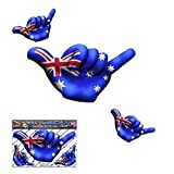 Piccola bandiera AUSTRALIA HANG LOOSE decalcomanie adesivi per auto divertenti per il surf - ST00055AU_SML - JAS Stickers