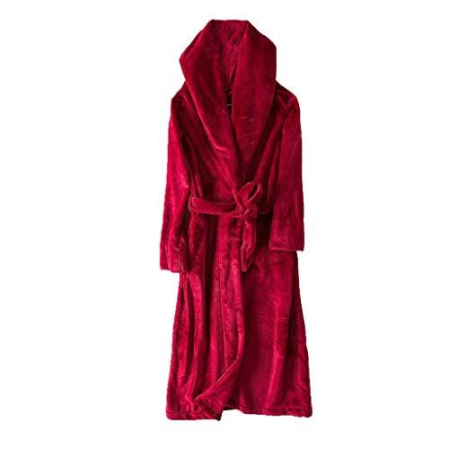 Extra Lange Bademantel Robe Schal Bademantel Bad Kleidung Sexy Nightgown Pyjamas Home Service | Unisex | Rot (größe : M)