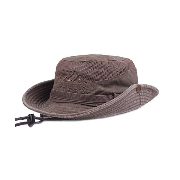 KeepSa Cotton Sun Hat UV Protection Summer Hats Beach Hat Safari Boonie Hat Foldable Fishsing Hat with Breathable Mesh…