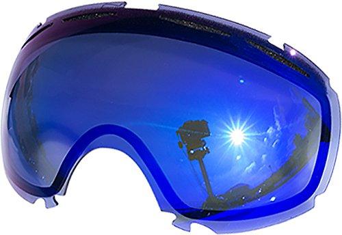 Lentes de repuesto para Oakley Canopy–Gafas antiventisca para nieve, Blue Mirror