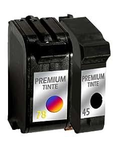 Druckerpatronen refill Set für HP 45 + HP 78 DeskJet 9300, 930C, 932C, 933C, 934C, 935C, 950C, 952C, 955C, 959C, 960C