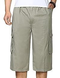 YiLianDa Herren Sommer Bermuda Chino Shorts kurze Hose Sommerhose Short b26c1ad7c8