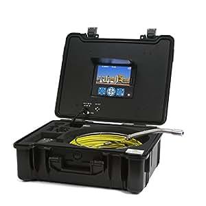GooQee pic001-l professionale Scarichi fognari Duct tubo tubo sistema di telecamera di ispezione con 1/3SONY CCD Sensore, Mini testo scrittore, scheda SD da 8GB e 7TFT LCD DVR