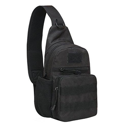 Fueerton Men Portable Outdoor escursionismo sport petto borsa Tracolla in tela, borsa a tracolla, G E