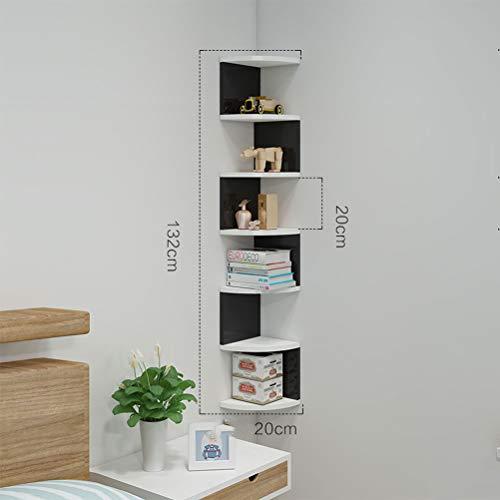 Scaffale ad angolo unità-5/7 tier corner scaffali possono essere utilizzati per scaffale angolo o qualsiasi mensola decor,7layersblackandwhite