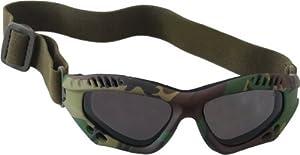 Lunettes goggles d'intervention US Army commando forces spéciales - Monture Woodland Camouflage - Verres fumés - Airsoft - Paintball - Moto - Quad - Ski - Snow - Outdoor