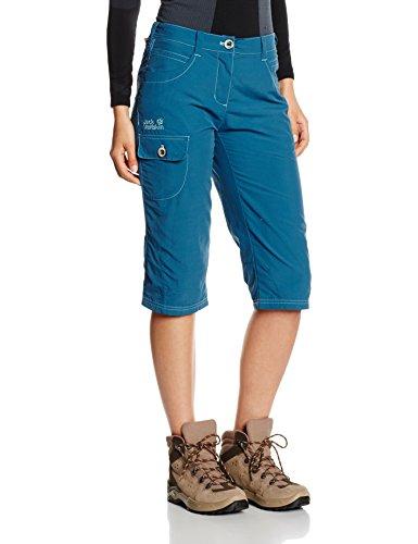 Jack wolfskin atacama pantalon 3/4 Bleu - Bleu marocain