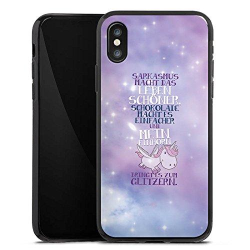 Apple iPhone 6 Plus Silikon Hülle Case Schutzhülle Einhorn Unicorn Sprüche Silikon Case schwarz