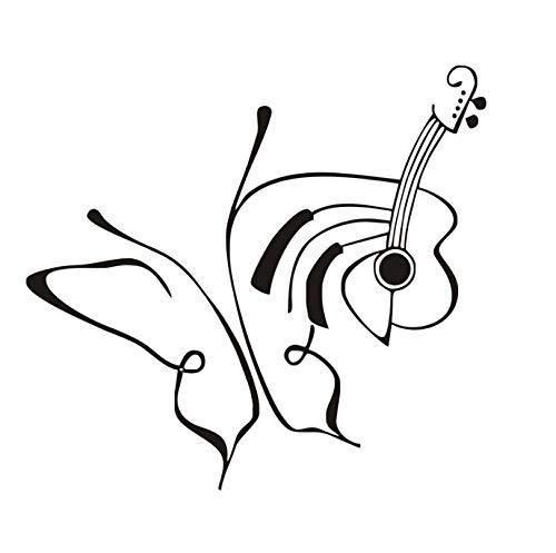 jqpwan Strichzeichnung Kunst Kreative Schmetterlinge Und Schnur Wandaufkleber Steuern Dekor Diy Vinylkleber Wandtattoos Wohnzimmer Abnehmbare 63 * 58 Cm (Schnur Dekorationen Schneeflocke)