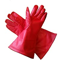 Leather Mystics Guantes de Piel Rojo XL (Extra Grande) Largo – Tensiómetro ...