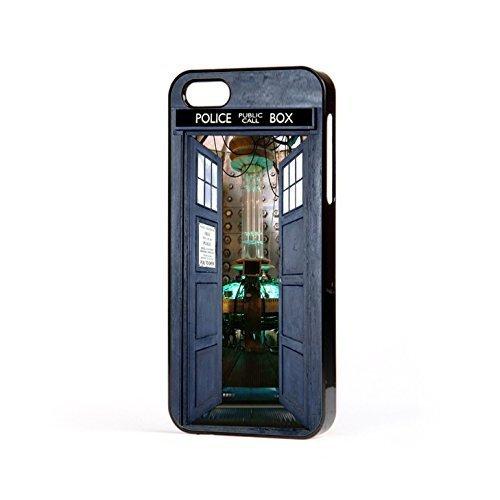 EBUK Dr Who Open Tür Tardis Police Box Sci-Fi Science Fiction Handyhülle Passend für Das Apple iPhone (Alle Modelle) Inoffiziell - Schwarz, iPhone 8 -