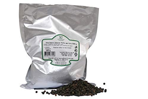 Schwarzer Pfeffer ganz Extra 0.500 kg, Black pepper whole, Prima Gewürzt, Gewürzgroβhandel Krefeld GmbH