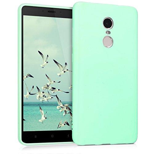 kwmobile Funda para Xiaomi Redmi Note 4 / Note 4X - Carcasa para móvil en [TPU Silicona] - Protector [Trasero] en [Menta Mate]