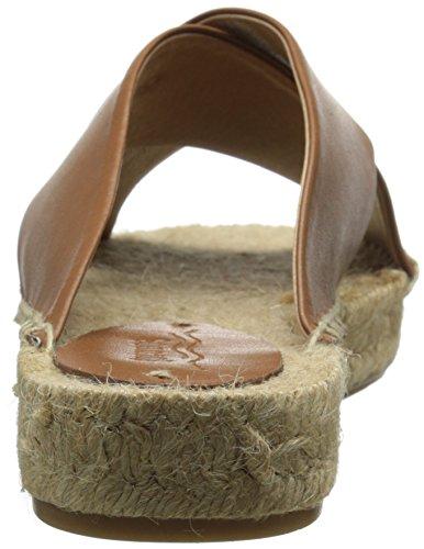 Soludos Criss Cross Platform Sandal Cuir Sandale Tan