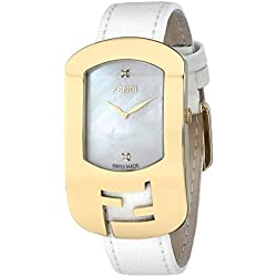 Fendi Women's F300434541D1 Chameleon Analog Display Quartz White Watch