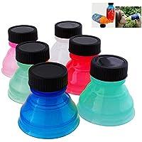 6 Tapas Reutilizables genéricas para dispensador de Agua de Cerveza, Tapa para Botella y tapón