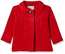 Mothercare Girls Jacket (MB513-1_red_2-3 Y)