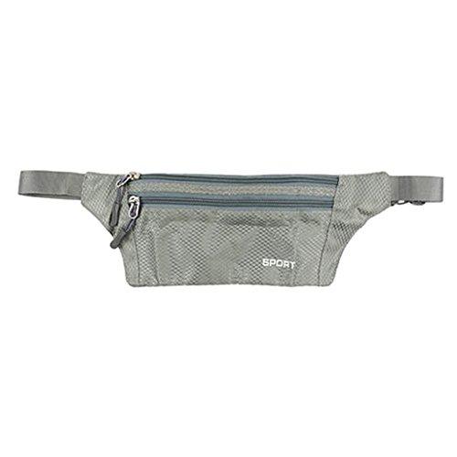 Camping Gürteltasche Laufgürtel Bauchtasche Hüfttasche Sporttasche Bauch Tasche Grau