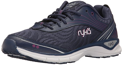 Ryka Womens Regina Walking Shoe Blue/Purple/Silver