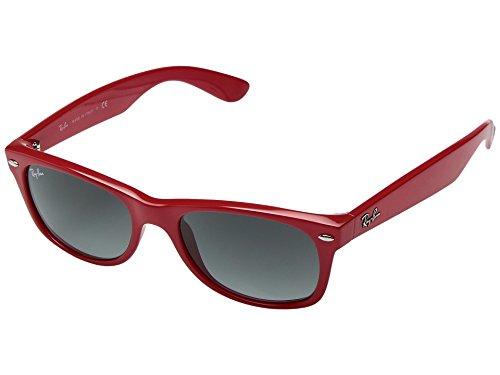 RAYBAN Herren Sonnenbrille New Wayfarer, Rot (Red/Grey Gradient), 52