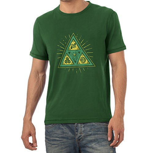 TEXLAB - Triforce Triangle - Herren T-Shirt Flaschengrün