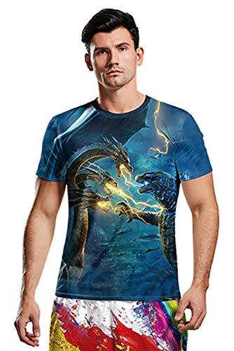 Anime Cosplay Kostüm Godzilla 2 King of Monsters Kurzarm T-Shirt ()