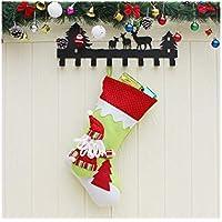 Hermosa decoración navideña Calcetines de Navidad creativos de Santa Claus Bolso de Dulces Bolso de Navidad