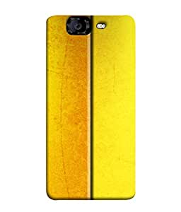 PrintVisa Designer Back Case Cover for Micromax Canvas Knight A350 :: Micromax A350 Canvas Knight (Dual Combination Pattern Yellow Shades)