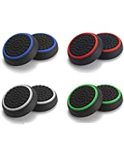 ReTrack Set of 4PC Thumb Grips Silicon for PS4, PS3, Xbox 360 Multi Color (4PC)
