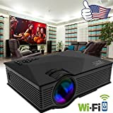 SLB Works Brand New WiFi Ready Full HD 1080P LED/LCD VGA HDMI TV Home Theater Projector Cinema