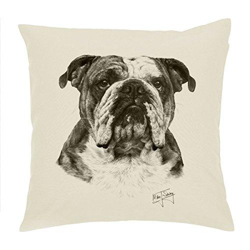 C & S Products Englisch Bulldog/British Bulldog, Hund Kissenbezug/Kissen 45,7cm Mike Sibley Design