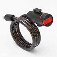 Bigdispawl - Candado de Seguridad Universal antirrobo para Bicicleta, Cable de Seguridad de Acero Inoxidable, Cadena de Acero portátil para Motocicleta con 2 Llaves