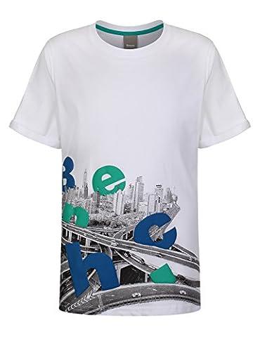 Bench Jungen Kurzarm Shirt, HAZY, GR. Small (Herstellergröße: 3-4), Weiß (White)