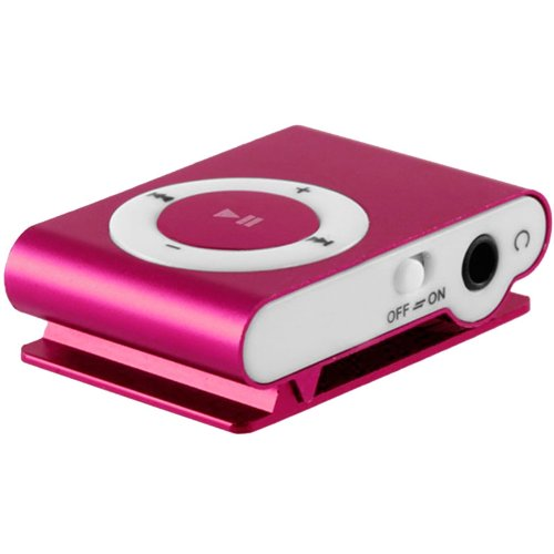 Mini-reproductor-MP3-con-clip-Color-ROSA-FUXIA
