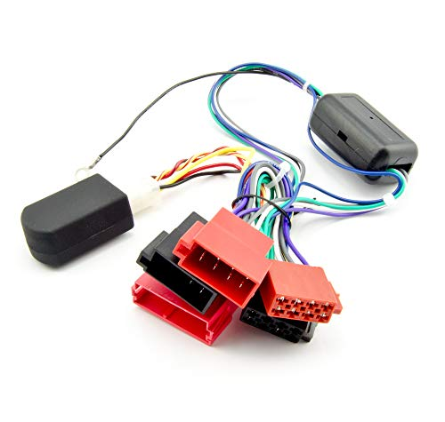 Watermark 48020 Radio-Adapter CAN-Bus Aktivsystem für Audi A2 A3 A4 A6 A8 TT bis 2006, Mini-ISO Stecker, 12V Zündungsplus Simulator