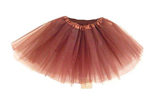 niceeshop(TM) Mädchen Modern Ballett Verkleiden Fee Tutu Rock, Kaffee Farbe (Ballett Kostüm Flügel)