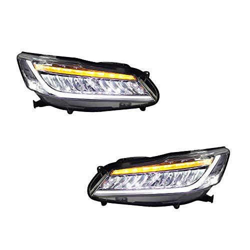 2 Stück Scheinwerfer für Accord 2016-2017 Bi-Xenon-Linse, Projektor, Doppellicht, Xenon-HID-Kit mit LED-Tagfahrlichtern
