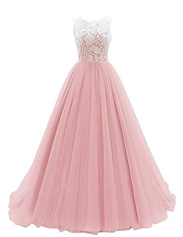 KekeHouse® Longue Robe de Soirée Bal Cérémonie Fille Enfant Femme Mariage Fête En A