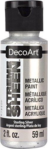 Deco Art Americana Extreme Glanz Jar der Farbe, Acryl, Sterling Silber, 3,5x 3,5x 10cm