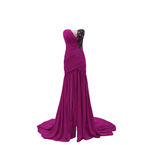 Bridal_Mall - Robe - Trapèze - Sans Manche - Femme Fuchsia