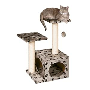 BUNNY BUSINESS Luxury Cat Tree Scratching Post, Paw Print
