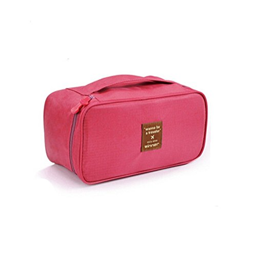 Outdoor campeggio Manager Underwear Storage Toiletry Wash Bag Custodia Trucco Hanging Grooming portatile, Rose red Rose red