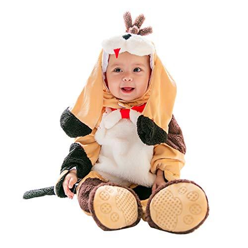 Tsingbei Baby Kleinkinder Animal Kostüm Halloween Party Jumpsuit Winter Strampler Bekleidung