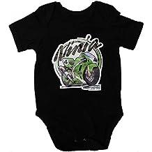 Kawasaki Ninja Traje Body Bebe Logotipo Etiqueta Pegatinas de la Camiseta Logo Negro de Deporte Algodón