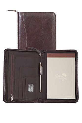 Scully Women's 5019Z Italian Leather Zip Padfolio (Walnut) by Scully (Scully Zip)